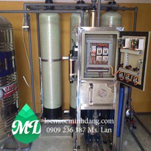 Hệ thống lọc nước tiệt trùng dùng cho trường học công suất 300 lít -h
